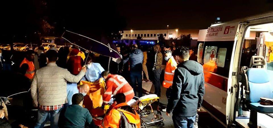 Police violence against TNT/FedEx striking workers near Milan